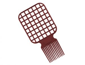 Two in One Afro & Twist Comb combines a traditional Afro Pick with new Twisting Comb for simplicity.